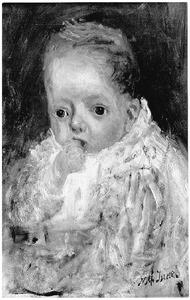 Portret van M. Biegel als baby
