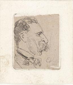 Zelfportret van Elchanon Verveer (1826-1900)