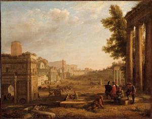 Gezicht op het Campo Vaccino (Forum Romanum)