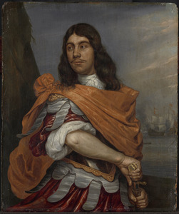 Cornelis Tromp (1629-91). Luitenant-admiraal, in Romeins kostuum