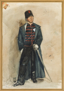 Huzaar van het derde regiment Huzaren