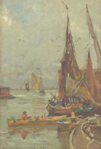Vissersschepen in de haven van Vlissingen