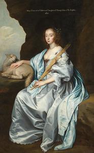 Portret van Mary Stewart, Duchess of Richmond en Duchess of Lennox (1622–1685), voorheen Lady Mary Villiers, als de H. Agnes