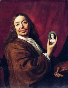 Zelfportret met portretminiatuur van Mary Henrietta Stuart I (1631-1660)