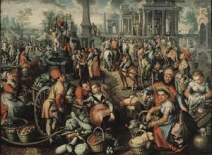 Markt met Ecce Homo, geseling en kruisdraging