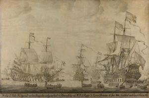 Krijgsraad aan boord van de 'Zeven Provinciën', het admiraalschip van Michiel Adriaensz. de Ruyter, 10 juni 1666, voorafgaande aan de Vierdaagse Zeeslag; episode uit de Tweede Engelse Zeeoorlog (1665-1667)