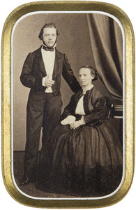 Portret van Johannes Gosuinus Walraven Krol (1826-1897) en Mathilde Louize van Dries (1829-1870)