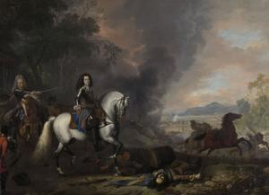 Hendrik Casimir II van Nassau-Dietz bij een veldslag