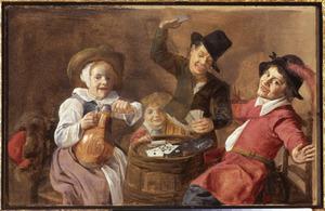 Kinderen bij kaartspel
