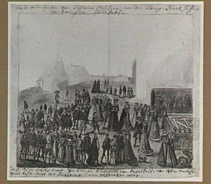 Koningin Elizabeth I ontvangt de Nederlandse ambassadeur op Richmond Castle