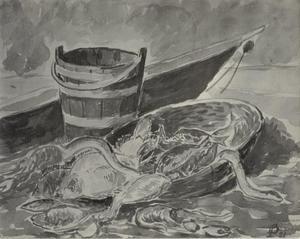 Stilleven met vissen