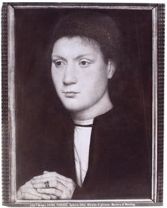 Portret van een man met gevouwen handen (mogelijk Benedetto Portinari)