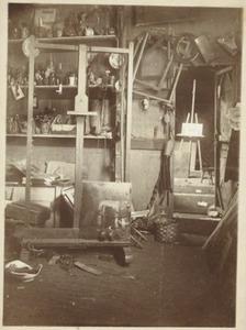 Atelier van de schilder Piet Meiners (1857-1903) op het landgoed Ewijkshoeve van de familie Witsen bij Lage Vuursche