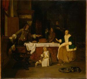 Familie aan de maaltijd