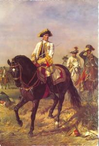 Veldmaarschalk Gideon Ernst von Laudon na zijn overwinning bij Kunersdorf op 12 augustus 1759