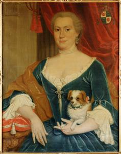 Portret van Petronella Sibregta Codde van der Burg (1718-1775), echtgenote van Adriaan van Bleyswijk