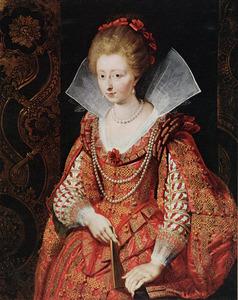 Portret van Charlotte Margaretha van Montmorency (1594-1650), Prinses van Condé