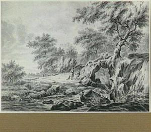 Rotsachtig rivierlandschap