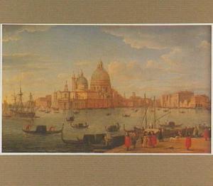 Gezicht op de Canal Grande en Santa Maria della Salute in Venetië