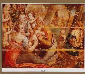 Laban kust zijn dochters en hun kinderen alvorens huiswaarts te keren (Genesis 37:23-24)