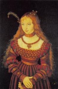 Portret van Sibylle von Cleve