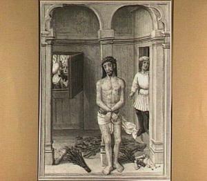 Christus aan de geselzuil  (detail van het middenpaneel)