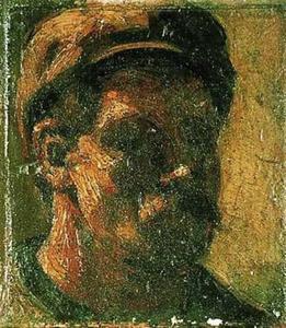 Man met snor en pet (zelfportret?)