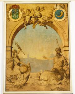 Mercurius en Neptunus bevorderen de welvaart van Rotterdam