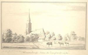 Winterswijk, het dorp met de kerk vanuit het zuidwesten
