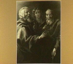 Drie apostelen, waaronder Johannes Evangelista