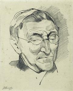 Portret van de kunsthandelaar De Bois