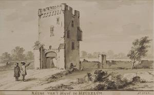 Ruïne van kasteel Heukelum vanuit het zuidwesten