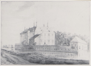 Dever (Huis te Lisse), aan de achterzijde
