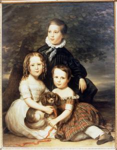 Portret van de kindedren van Johannes Antonius de Sonnaville en Maria Theresia van der Kun