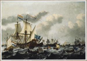 Vlootschouw met het schip 'De Witte Olifant'