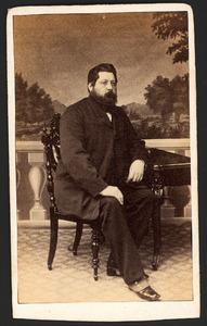 Portret van Tjalling Minne Watze Els Collot d'Escury (1825-1887)