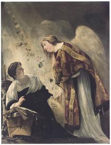 De annunciatie door Gabriël aan de Maagd van haar ophanden zijnde dood