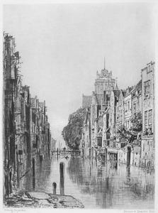 Gezicht op kanaal in Dordrecht