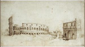 Rome, het Colosseum en de boog van Constantijn
