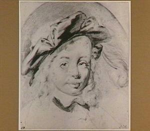 Portret van een jongen met gepluimde baret