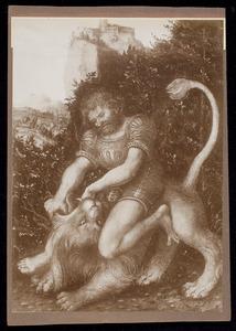 Simson bedwingt de leeuw