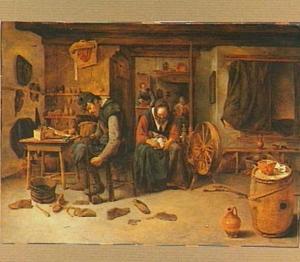 Interieur van een schoenmakerij