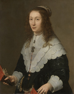 Portret van Catharina van Well (1628-1722), echtgenote van Guilliam van Bleyswijck (1621-1701)