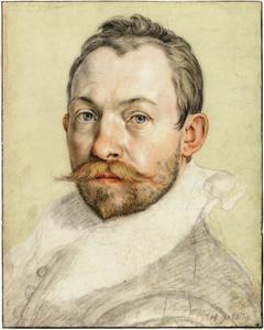 Zelfportret van Hendrick Goltzius (1558-1617)