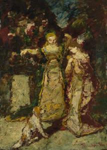 Twee vrouwen in het park