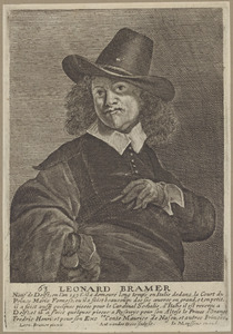 Portret van Leonaert Bramer (1596-1674)