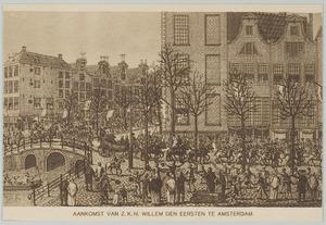 De aankomst van koning Willem I (1772-1839) als soeverein vorst te Amsterdam , 2 december 1813