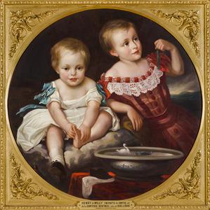 Dubbelportret van Henry Charles Adolphus Frederik William Bentinck (1846-1903) en Wilhelm Carl Philipp Otto von Bentinck und Waldeck-Limpurg (1848-1912)