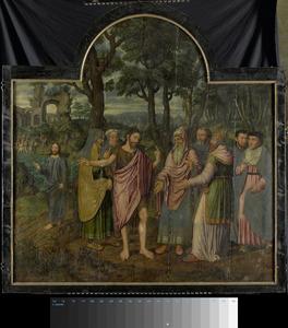 Drieluik met Johannes de Doper en de Farizeeën (middenpaneel); de prediking van Johannes de Doper (binnenzijde linkerluik); Johannes doopt Christus in de Jordaan (binnenzijde rechterluik); Johannes de Doper (buitenzijde linkerluik); Berbel van der Noot en de H. Barbara (buitenzijde rechterluik)