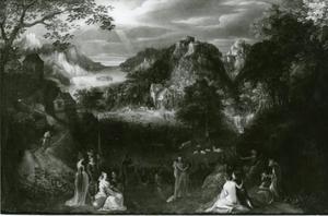 Landschap met het oordeel van Midas (Ovidius, Metamorfoses, XI, 174)